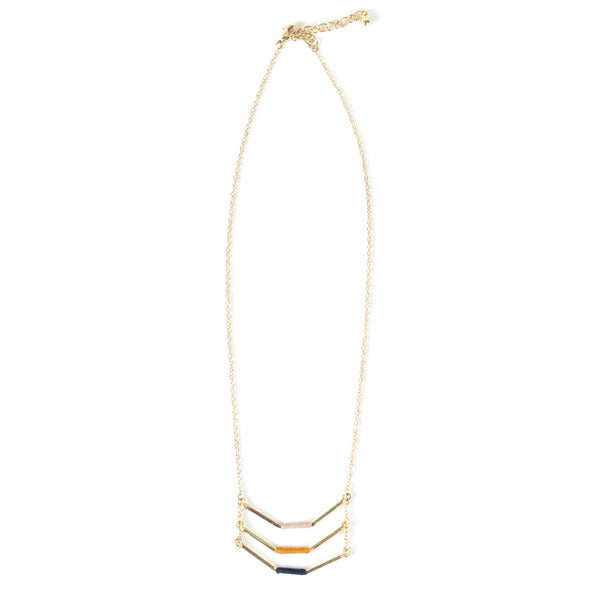 Threaded Chevron Necklace