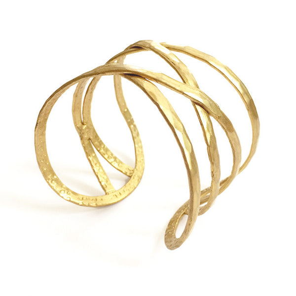 Criss-Cross Cuff in Gold