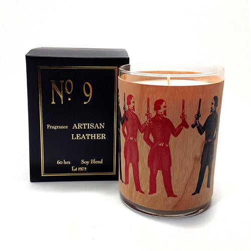 No 9 Artisan Leather Candle