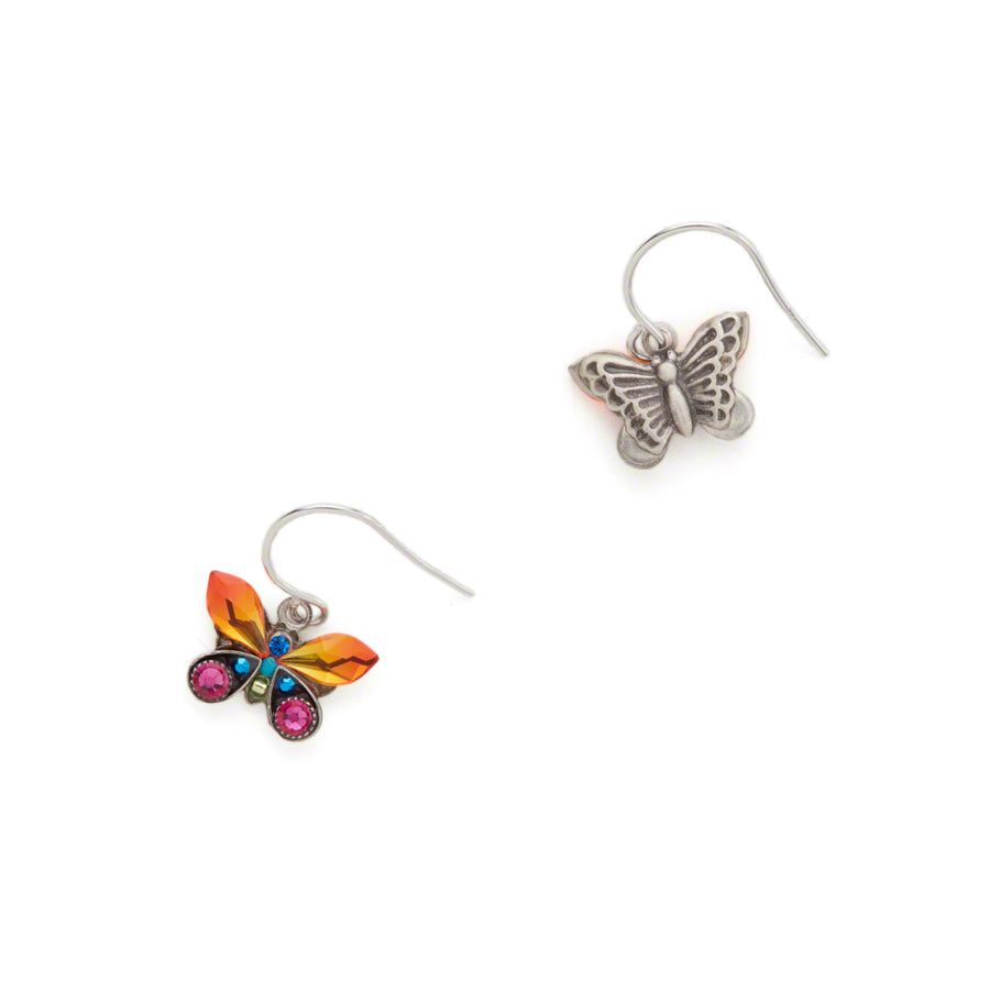 Butterfly Mosaic Drop Earring, Multicolor