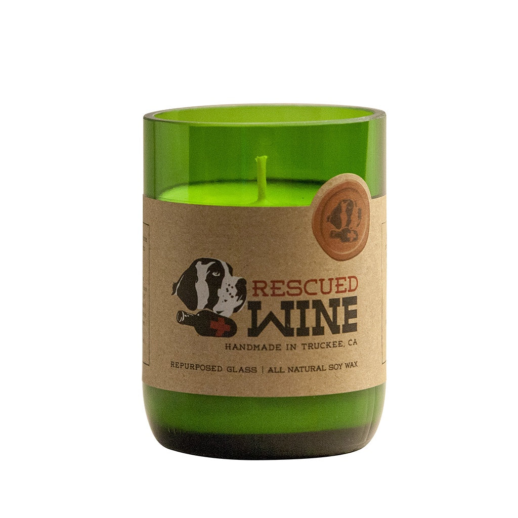 Cabernet Wine Bottle Candle