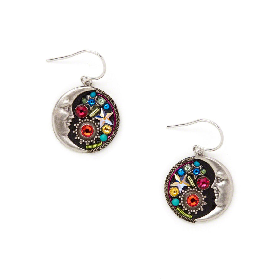 Midnight Moon Earrings, Multicolor