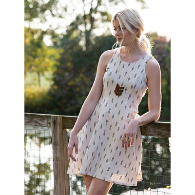Cream Ikat Cecilia dress