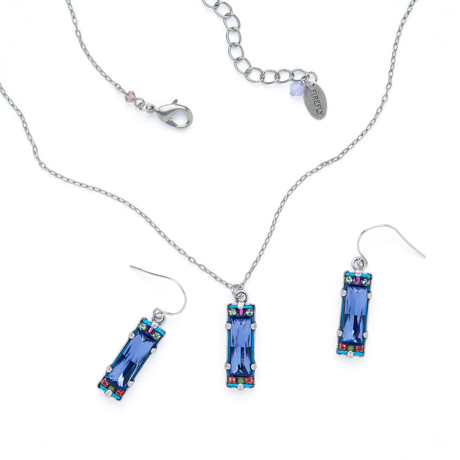 Crystal Pendent Necklace, Tanzanite