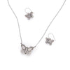 Fancy Butterfly Necklace, Multicolor