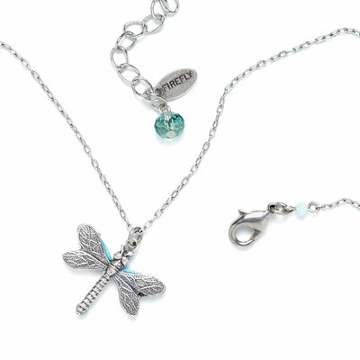 Dragonfly Large Pendant Necklace-Soft