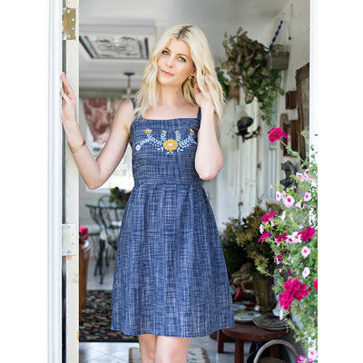 Cornflower Blue Marigold dress