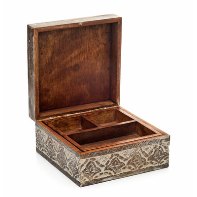Antique Finish Jewelry Box
