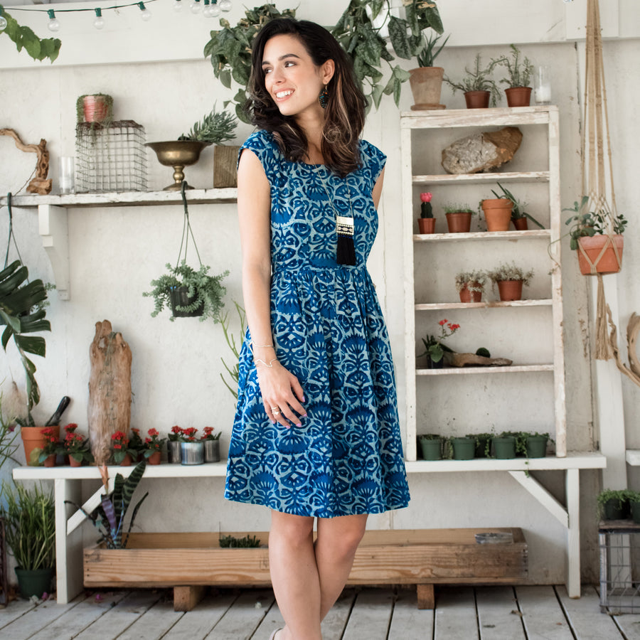 Indigo Floral Chilmark Dress