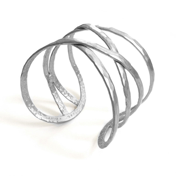 Criss-Cross Cuff in Silver