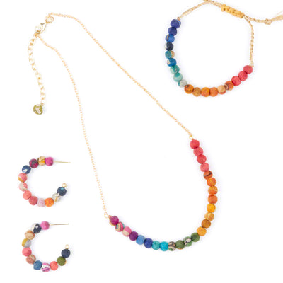 Delicate Kantha Necklace Collection