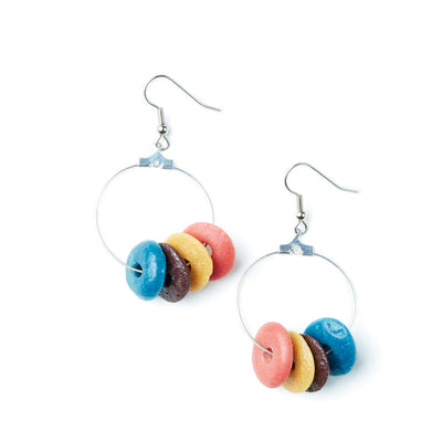 Rainbow Elliptical Earrings