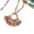 Fringed Kantha Hoop Pendant Necklace