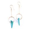 Hoop And Turquoise Dagger Earrings
