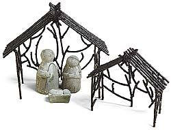 Small Cement Nativity Set