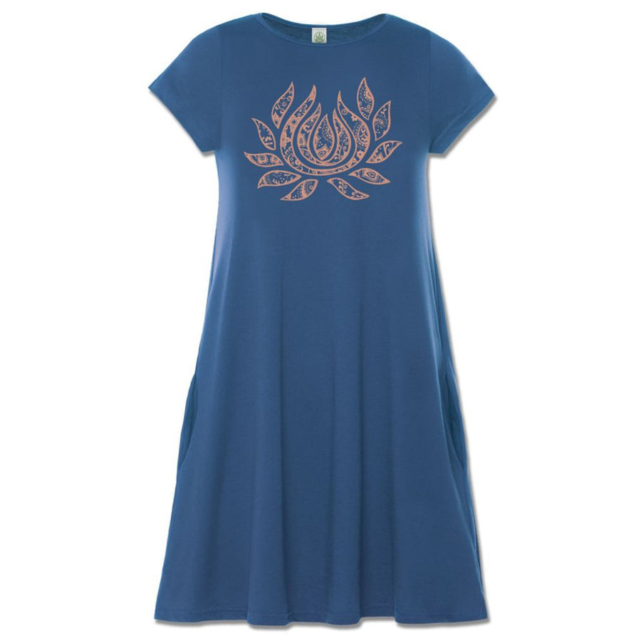 Flaming Lotus T-Shirt Dress