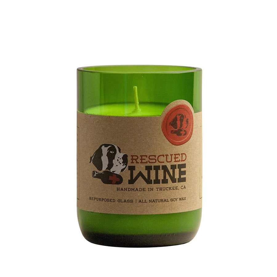 Merlot Wine Bottle Candle