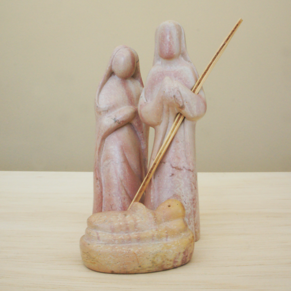 Three Piece Nativity, natural stone
