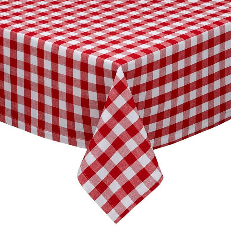Red Gingham Check Tablecloth 52x52