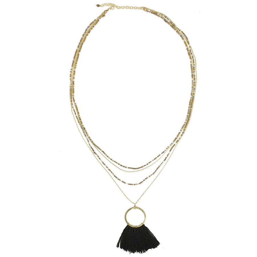 Fringed Tassel Necklace