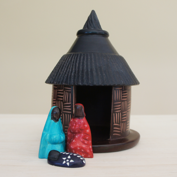Colorful Hut Nativity