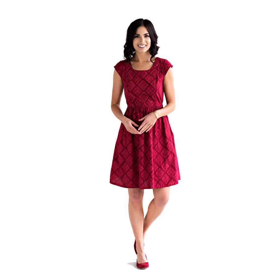 Chilmark Dress in Ruby