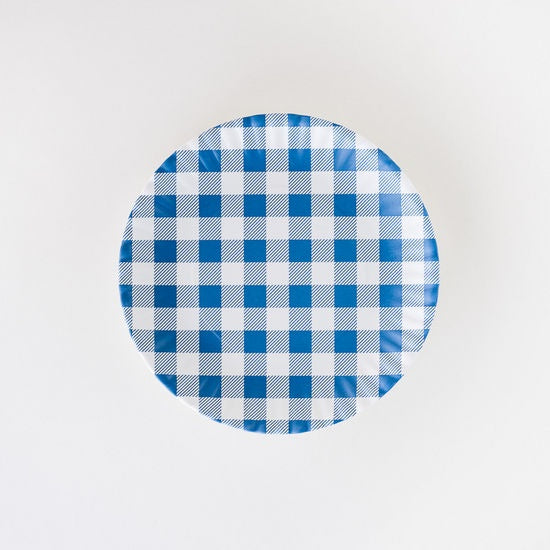 Blue Gingham 9 inch Plate