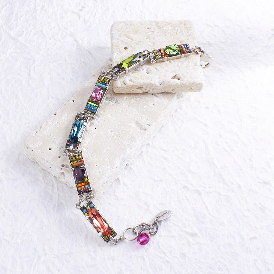 Dainty Bar Bracelet, Multicolor