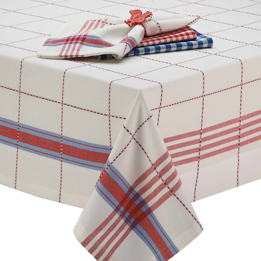 Cooperville Plaid Tablecloth 52x52