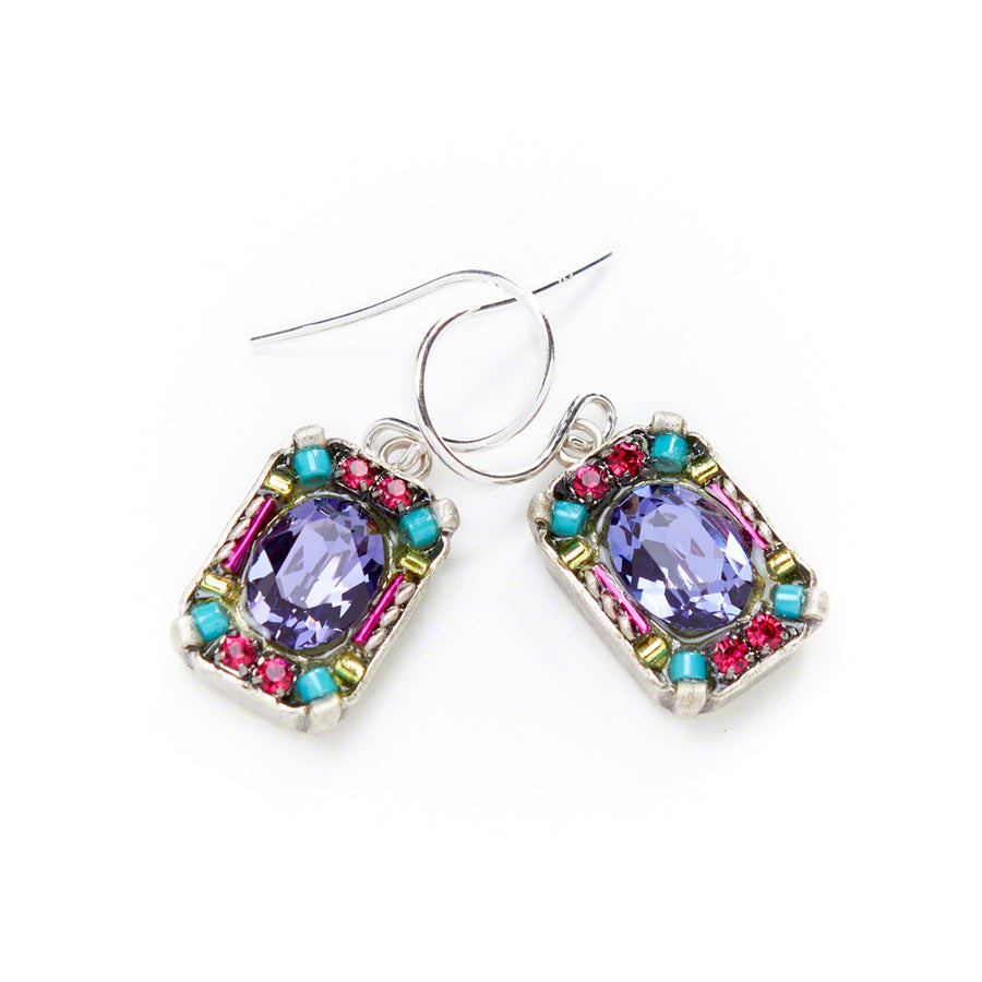 Petite Crystal Earrings, Multicolor