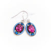 La Dolce Vita Oval Earrings, Bermuda Blue, alt