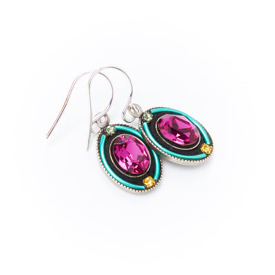 La Dolce Vita Oval Earrings, Indicolite, alternate