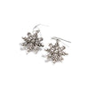 Snowflake Earrings, Silver, alternate