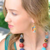 Kantha Bead Teardrop Loop Earrings model