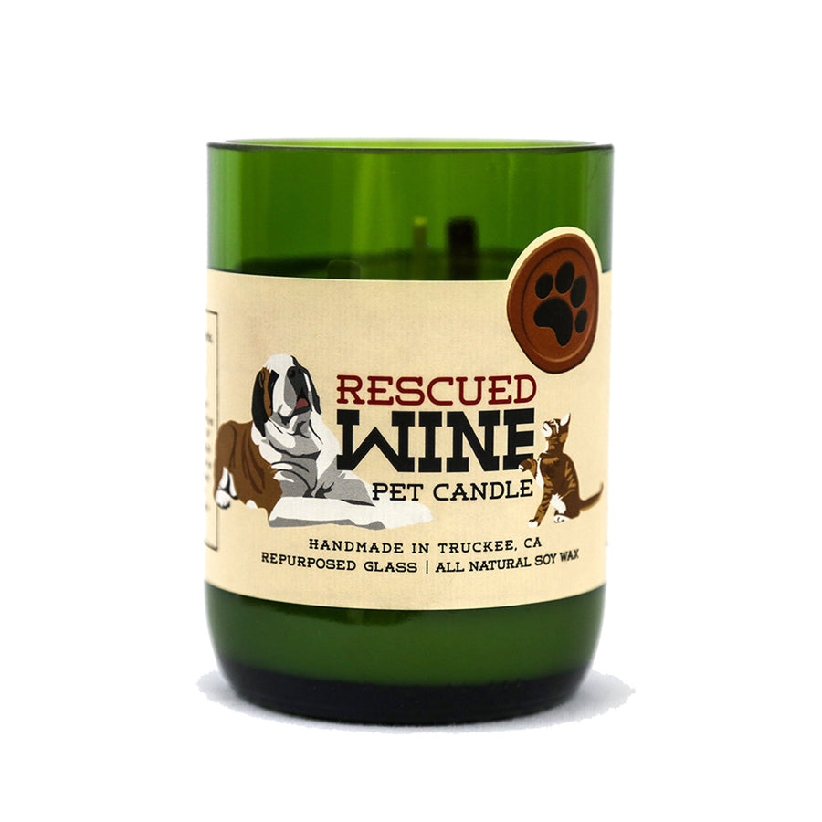Fresh Grass Wine Bottle Candle