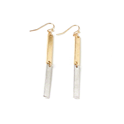 Linear Drop Earrings