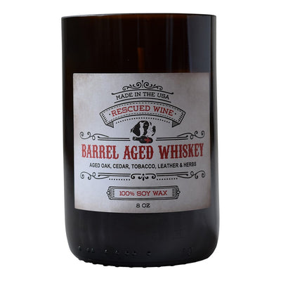 Barrel Aged Whiskey Wine Bottle Candle
