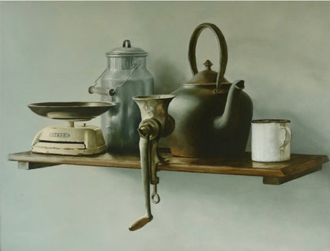 Peter Atkinson fine art still life painting Auckland art gallery