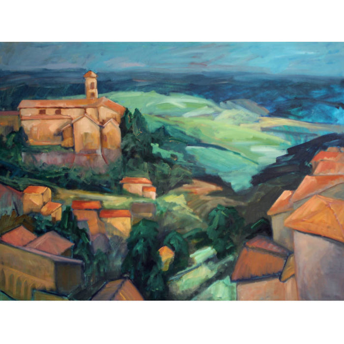 Artwork for sale, New Zealand Artist,  Painting of Italian Cathedral