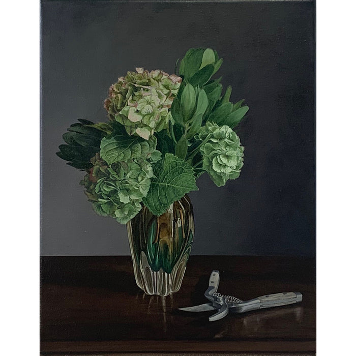 Floral study with secateurs