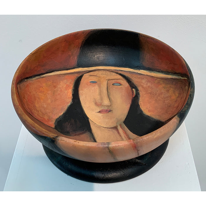 Lady in Large Hat after Modigliani's portrait of Jeanne Hebuterne 'Dame au Grand Chapeau'