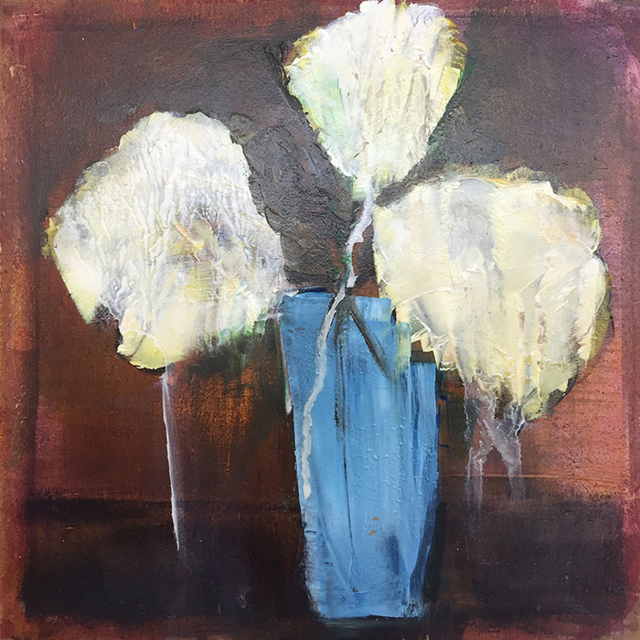 Blue vase, white bloom study II