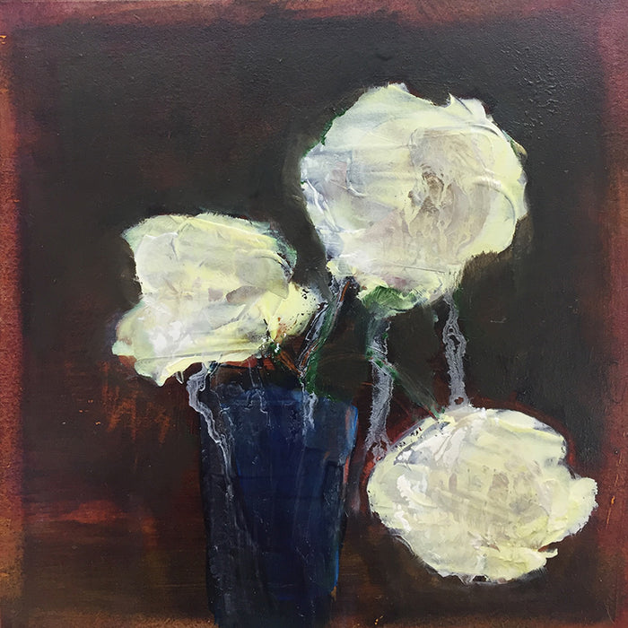Blue vase, white bloom study III