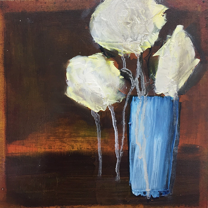 Blue vase, white bloom study IV