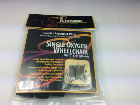 Single oxygen wheelchair
