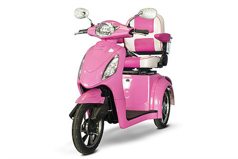 eWheels-80 Pretty in Pink Electric 3 Wheel Mobility Scooter