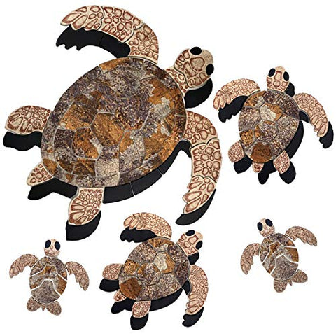 Aquatic Custom Tile Brown Sea Turtle Family Porcelain Swimming Pool Mosaic