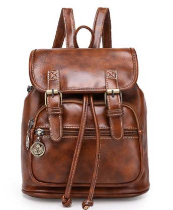 Vintage Leather Backpack - Baliva
