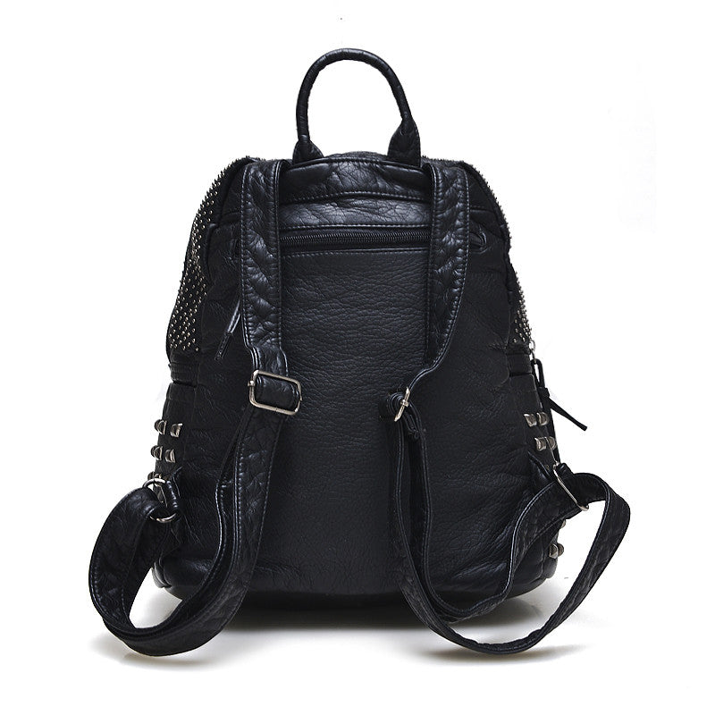 Leather Schoolbag - Baliva