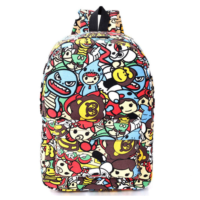 Cartoon Graffiti Backpack - Baliva
